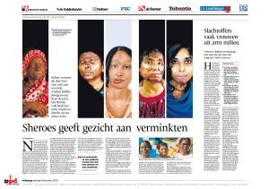 Article I wrote for Dutch newspapers about Sheroes Cafe opening in Agra.